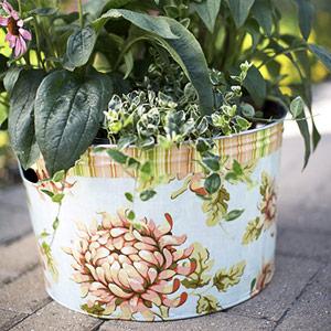 Кашпо для цветов из ткани своими руками фото 55