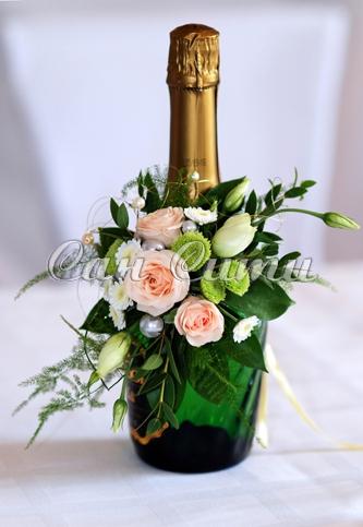 Новогодняя елка своими руками из бутылки шампанского